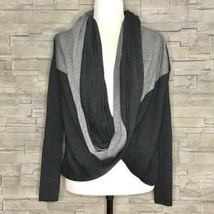 Colour 5 Power grey and silver infinity sweater